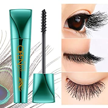 Extend Mascara, Aolvo Waterproof 3D Fiber Mascara Liquid Lash Lengthening Peacock Mascara Thickening Eyelash Extensions