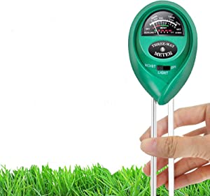Hofun Soil pH Meter, 3-in-1 Soil Moisture/Light/pH Tester Gardening Tool Kits for Plant Care, Great for Garden, Lawn, Farm, Indoor & Outdoor Use