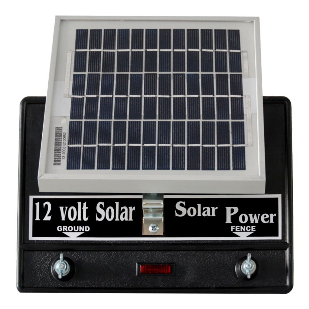 Solar Fence Charger 12 Volt 2 Joule/Free Lightning Diverter by Silver Streak