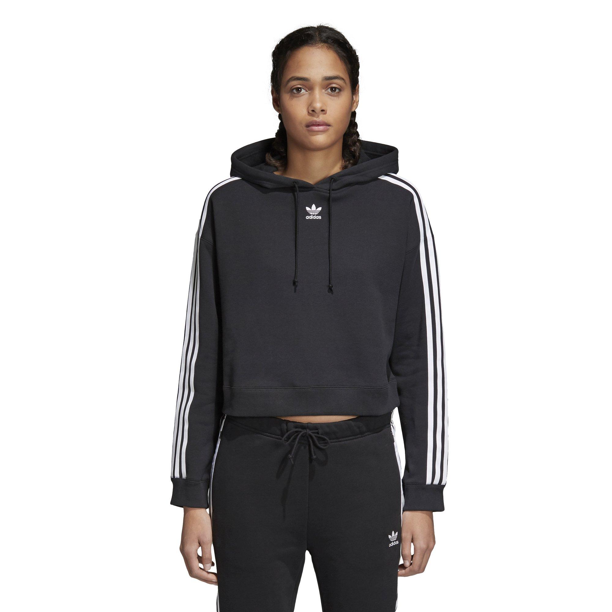 adidas Originals Women's Cropped Hoodie, Black, S