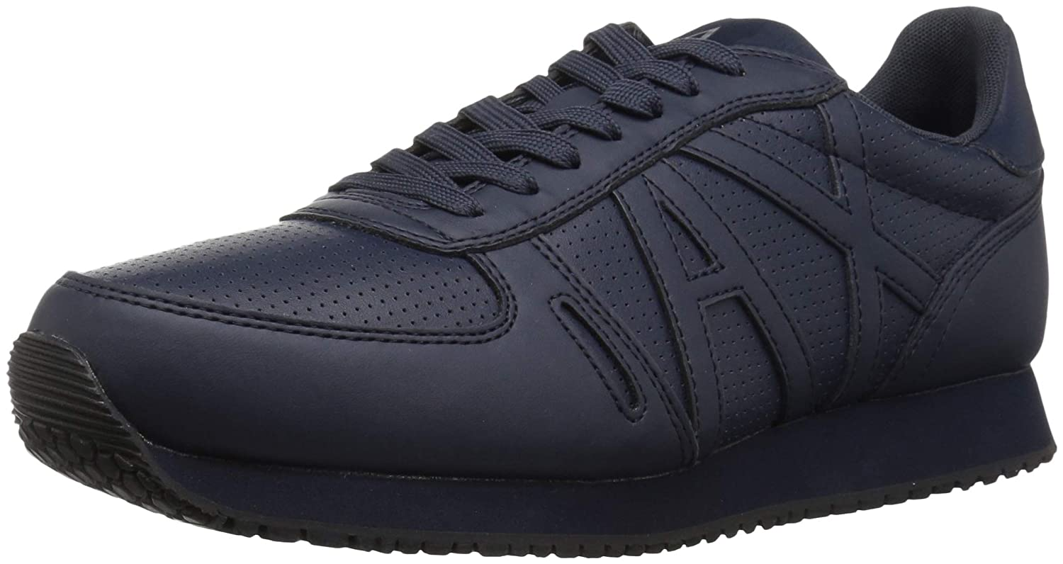 Navy Armani Exchange Men's Lace Up Sneaker with Logo