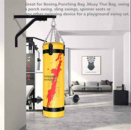 DOCYKE Punching Bag Bracket Wall Mount Heavy Speed Bag Stands Hangers Steel Wall Mount Boxing Frame Fitness Training Home Indoor Adult Kids Hand Wraps Gloves MMA UFC Gym Relieve Stress Anxiety