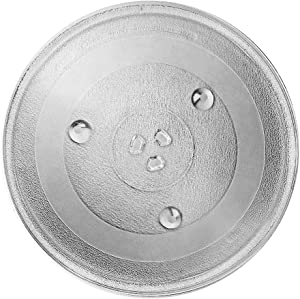 AMI PARTS Microwave Turntable Plate 12 3/8 inch P34 Replacement Glass Turntable Plate for Microwaves Compatible with Magic Chef, Sanyo, Emerson