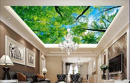 Pittura Per Soffitti Cucina : Lqwx custom 3d murali a soffitto verdi alberi 3d camera paesaggio di