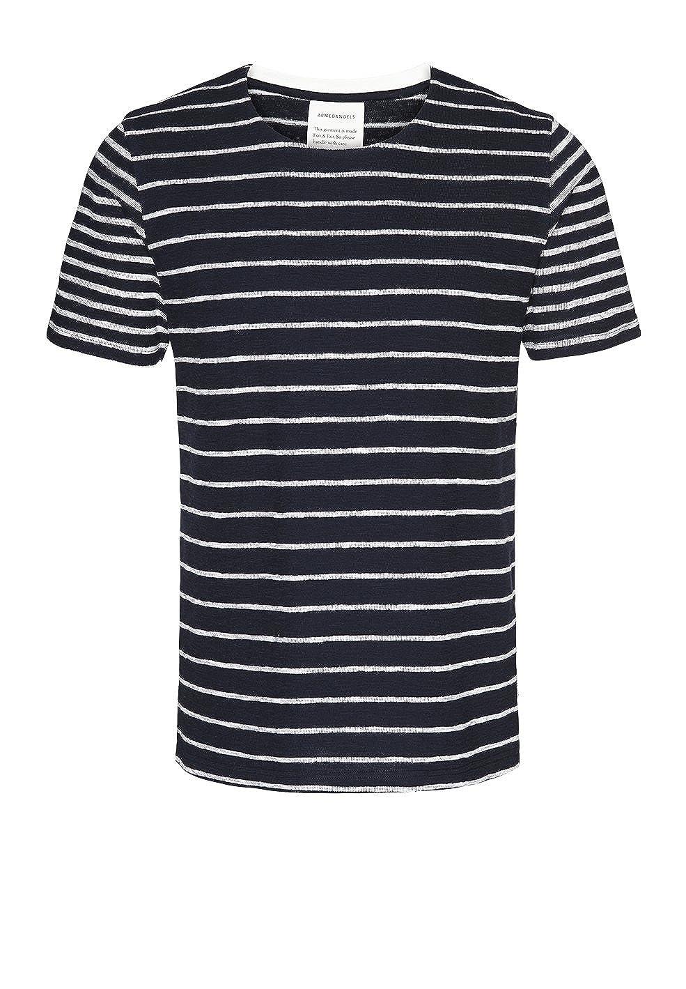 ARMEDANGELS Herren T Shirt aus Bio Baumwolle Dion Stripes