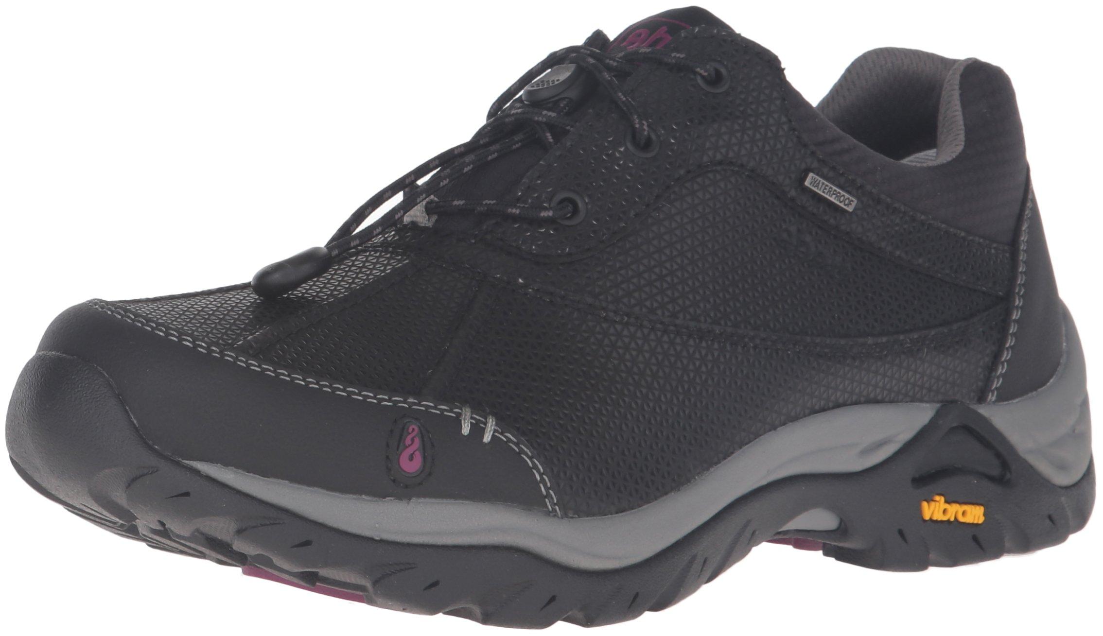 Ahnu Women's Calaveras Waterproof Hiking Shoe, Black, 9 M US