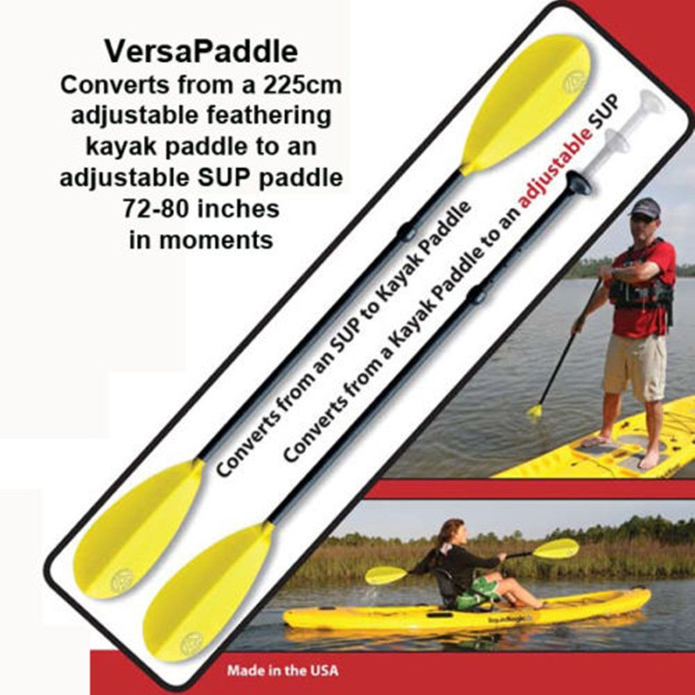 Accent Versapaddle 5pc Breakdown 225cm Kayak & Adjustable 72-80'' SUP Paddle in 1