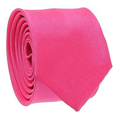 cravateSlim Corbata Estrecha Rosa Vivo: Amazon.es: Ropa y accesorios
