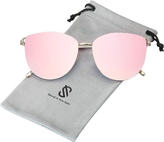 Fashion Practical Vintage Mirror Sunglasses Reflective Flat Lens Sun Glasses EMB