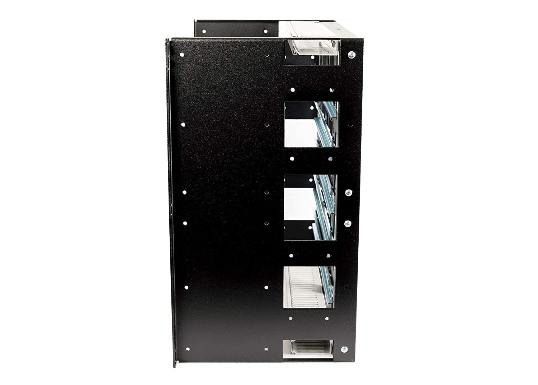 RCB1138BK15 10U Rackmount DIN Rail Panel for Industrial Standard EIA-310 19 inch 2-Post Relay Rack or 4-Post Server Rack
