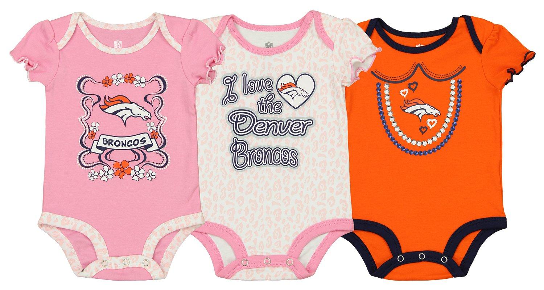 Amazon.com  Outerstuff NFL Infant Baby Girl s 3-Pack Bodysuit Set ... e8009f755