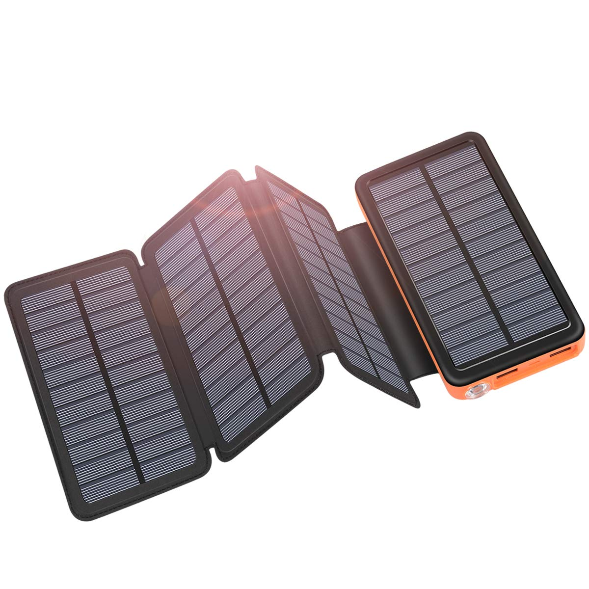 Solar Charger 25000mAh ADDTOP Portable Solar Power Bank with Type-C Input for Smart Phones, Ipad, Laptop and Outdoor Waterproof by ADDTOP