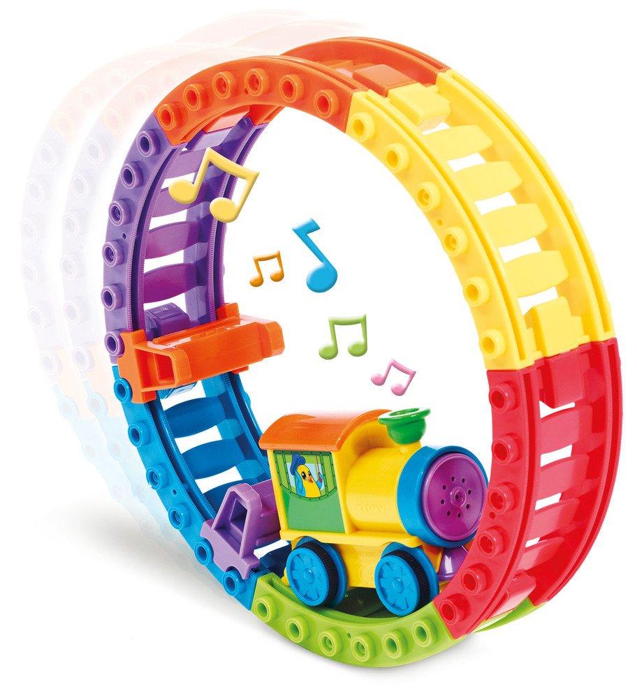 Tomy Choo Choo Loop E72360 Building Blocks Trains Light & Sound Lights & Sound Development & Learning Activity Toys Infants/preschool First Learning move circle