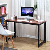 "Coleshome Computer Desk, 55"" Large Office Desk Computer Table Study Writing Desk for Home Office, Teak"