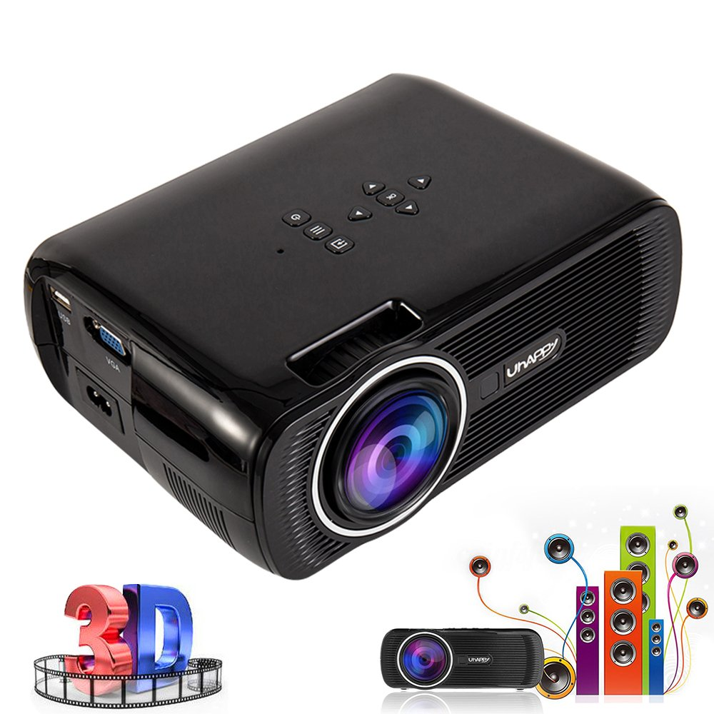 Proyector portátil Home Cinema Mini proyector LED Multimedia 3000 ...