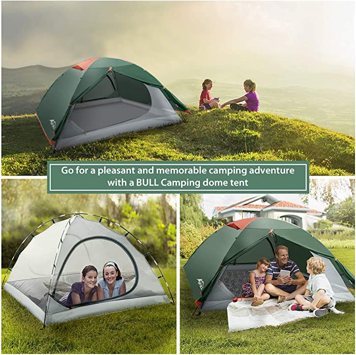 BFULL Camping Tents 2-3 Person Lightweight Backpacking Tents for Hiking Camping Outdoor Travel, Waterproof Pestproof