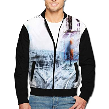 ce5204f6 DarleneRStacy Radiohead OK Computer Man's Full Zip Jacket Outerwear at  Amazon Men's Clothing store: