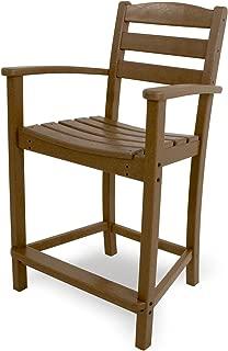 product image for POLYWOOD TD201TE La Casa Café Counter Arm Chair, Teak