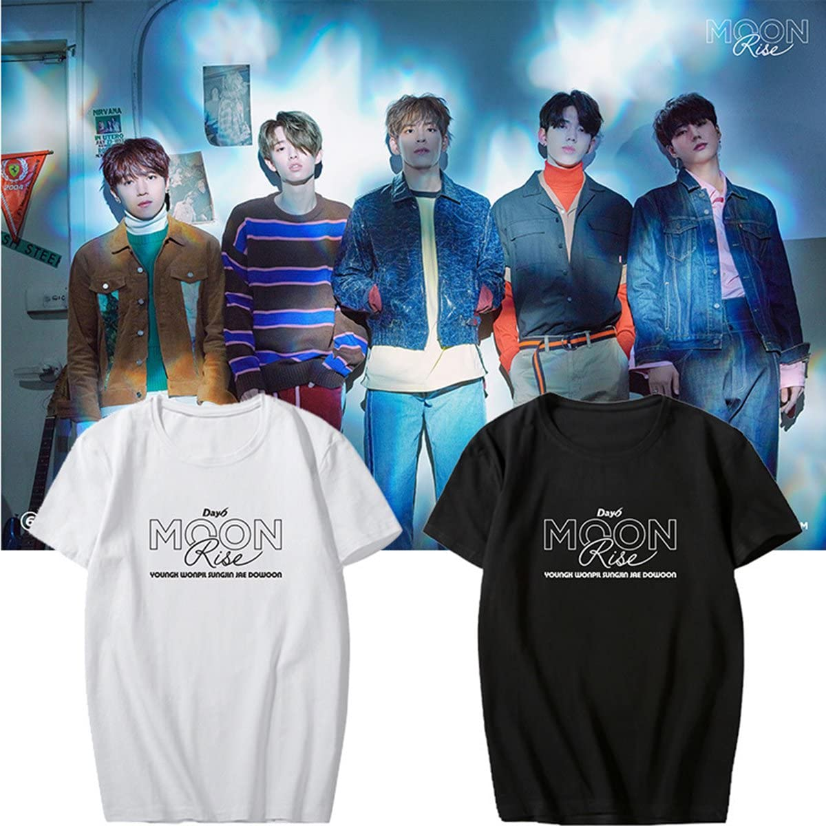 Kpop Day6 T-shirt 1st Album SUNRISE Young K Tshirt Dowoon Cotton Jae Short Tee