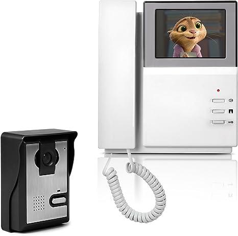 visione notturna telecamera Türsprechanlage con touchscreen a colori citofono nero