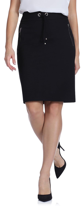 Bellivalini Falda Elegante Mujer S173 (Negro (3034), 42): Amazon ...