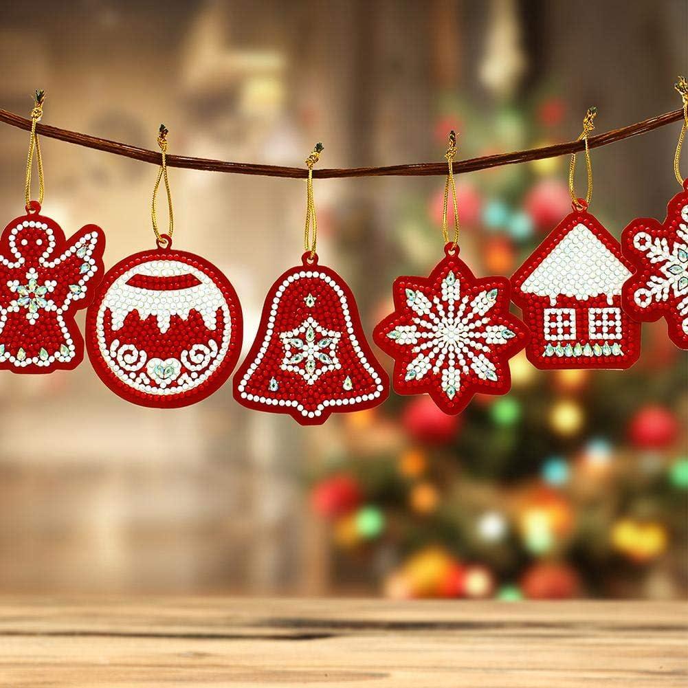 10 pezzi fai da te Full Drills Diamond Painting Special Shape Albero di Natale Ciondolo per la decorazione della stanza degli adulti