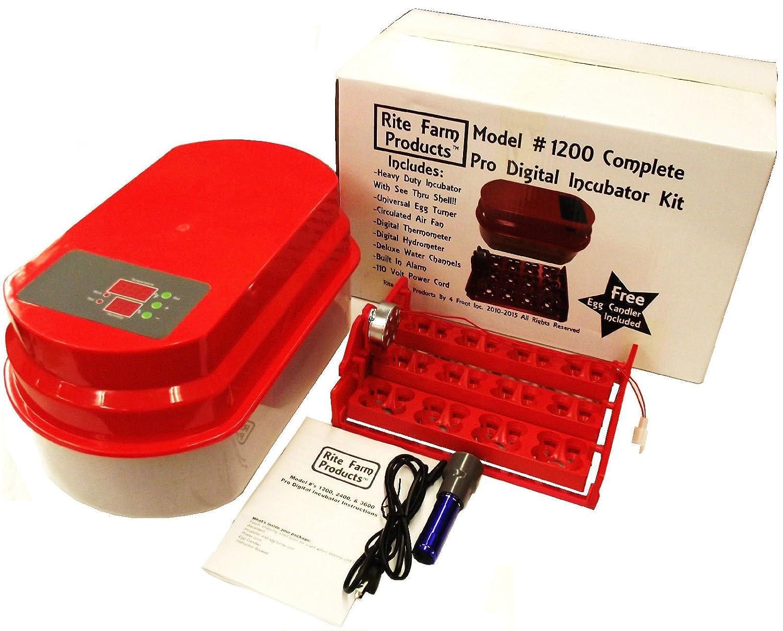 Cabinet Incubator Kit Amazoncom Rite Farm Products 1200 Pro Digital 48 Quail 12