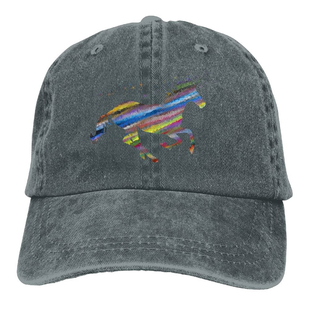 GqutiyulU Streaked Magical Unicorn Adult Cowboy Hat Asphalt