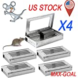 4-PACK Tin Cat Mouse LIVE Trap with window Multi Catch Mice MouseTrap - USA VIP