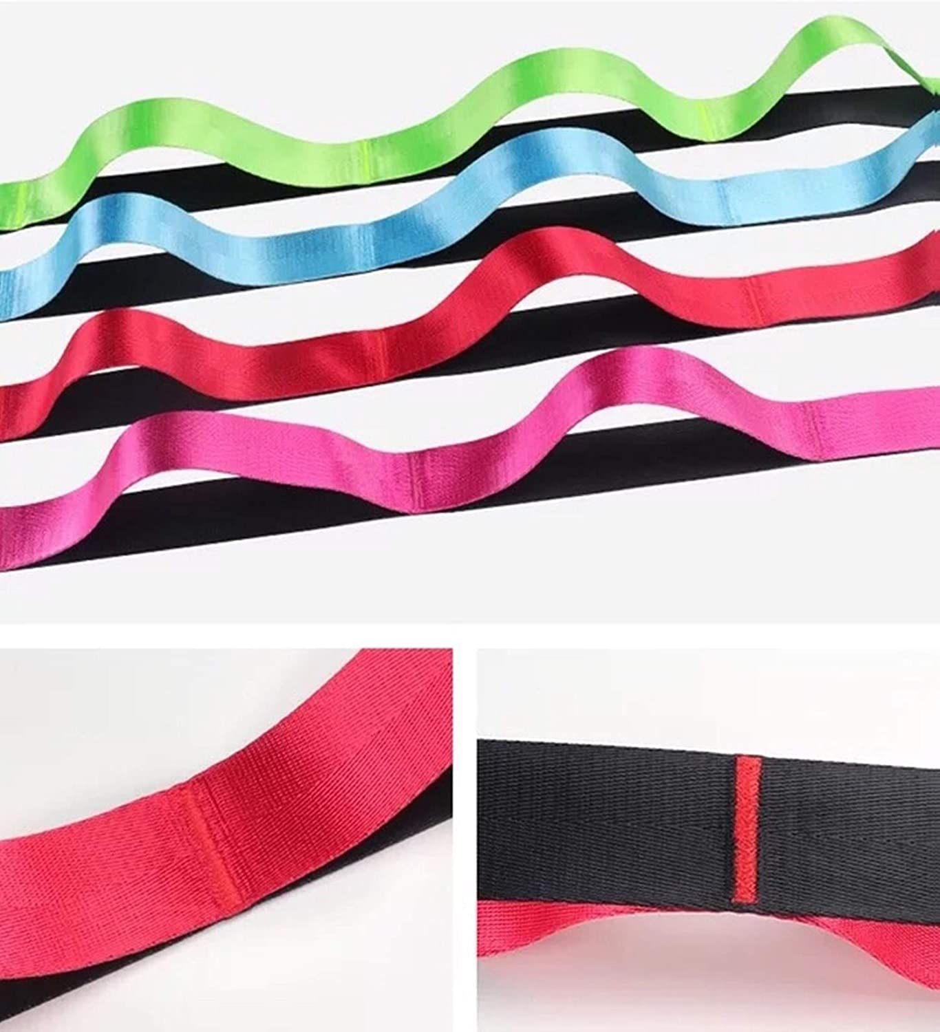 Physical Therapy Dorathye Yoga Stretching Strap Non-Elastic Exercise Bands Straps 12 Loops 8.8FT Exercise Booklet Best for Daily Stretching Pilates Fitness Yoga