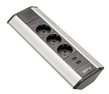 Sanitop-Wingenroth 28030 3 Eck-Mehrfachstecker 3-fach mit USB ...