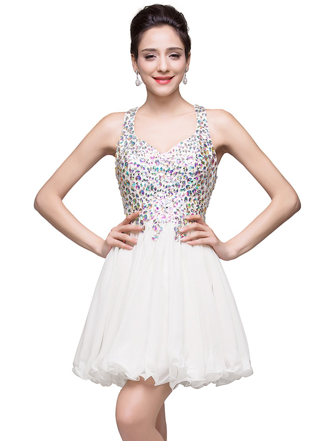 Crystal White Gown: Amazon.com