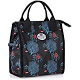 HUA ANGEL Lunch Bag Cooler Bag-Insulated Lunch Box Water-resistant Thermal Container Lunch Cross-body Tote Bag for Work/Schoo