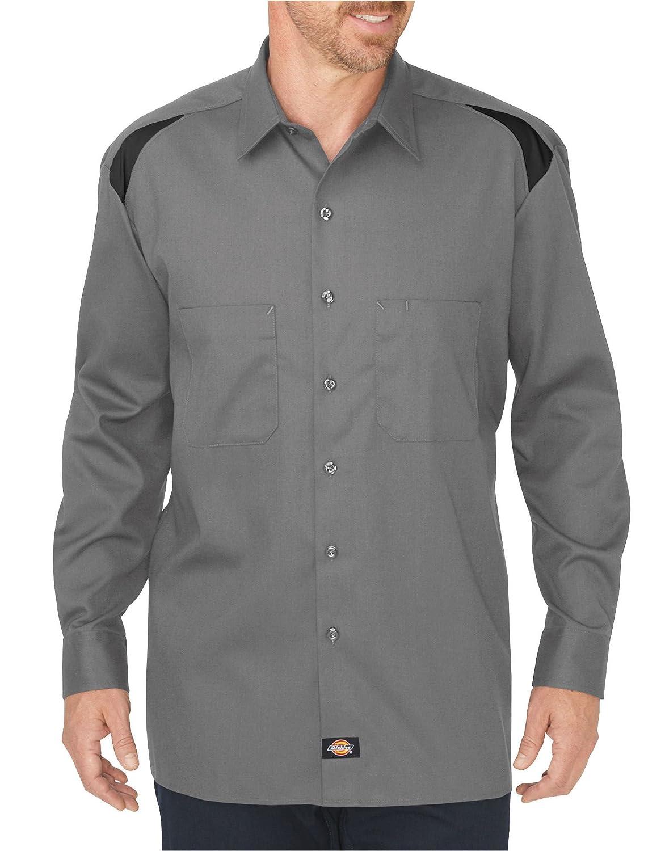 Dickies Occupational Workwear LL605SMBKLT - Camiseta de Manga Larga para Equipo de Trabajo, Tela, LT, Color Ahumado/Negro
