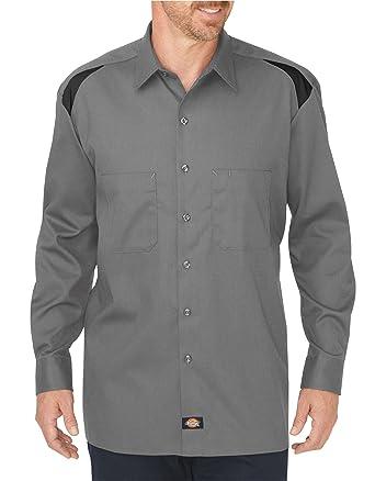 Dickies LL605SMBK4X LL605 - Camisa de manga larga para trabajo profesional, tela 4XL, color negro y humo: Amazon.es: Industria, empresas y ciencia