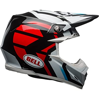 Bell Moto-9 MIPS Offroad Helmet - Gloss District Black / White / Red - Medium