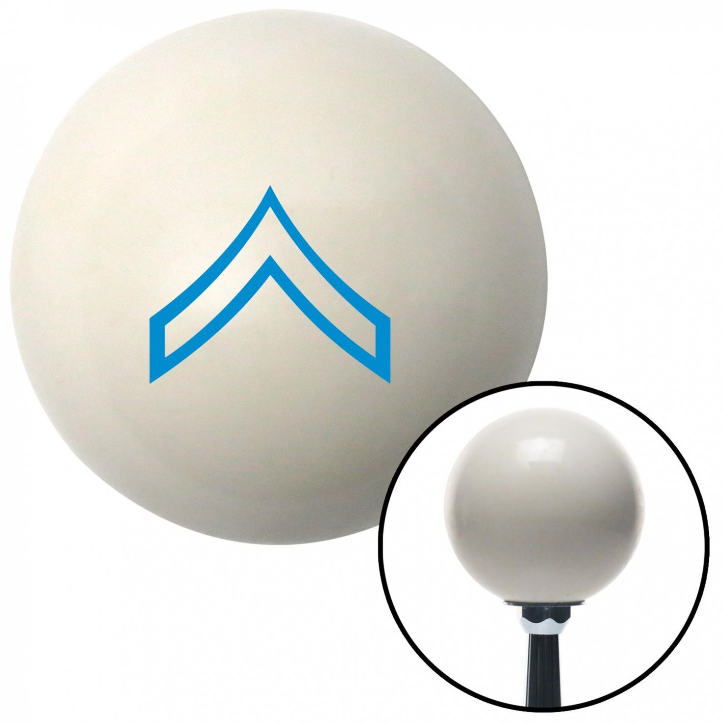 American Shifter 40683 Ivory Shift Knob with 16mm x 1.5 Insert Blue 01 Private First Class