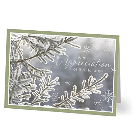 Amazon Hallmark Business Holiday Card For Customers Wintry