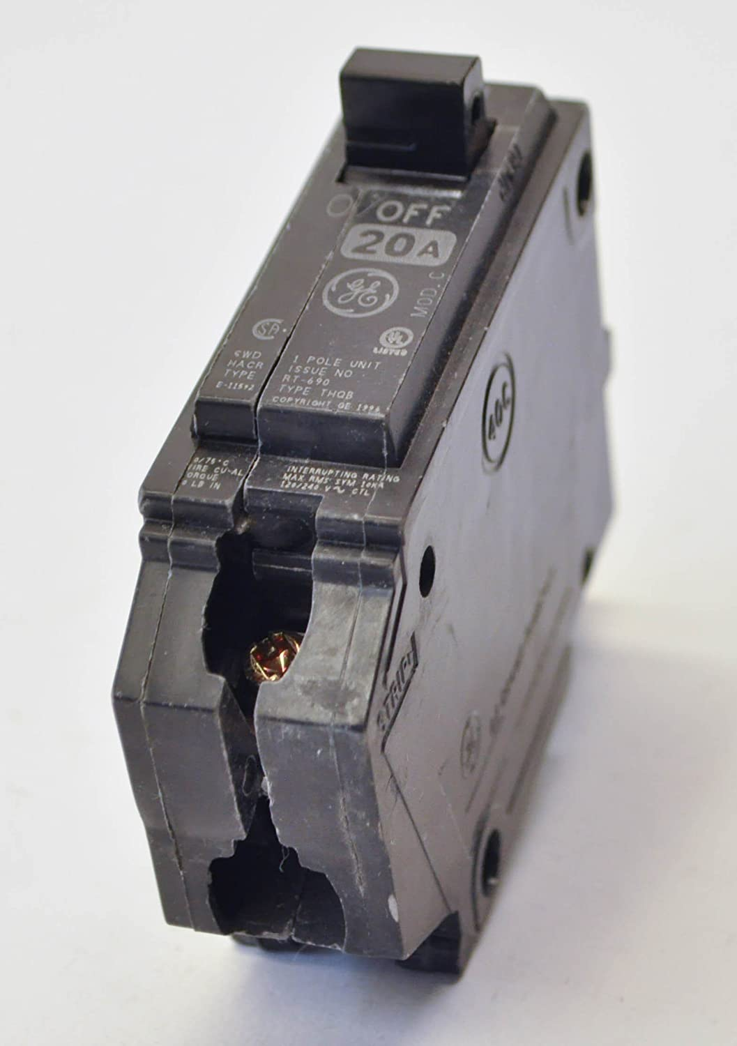 GE 20A 1POLE 120//240V BOLT-ON BREAKER THQB1120 FREE SHIPPING !!!
