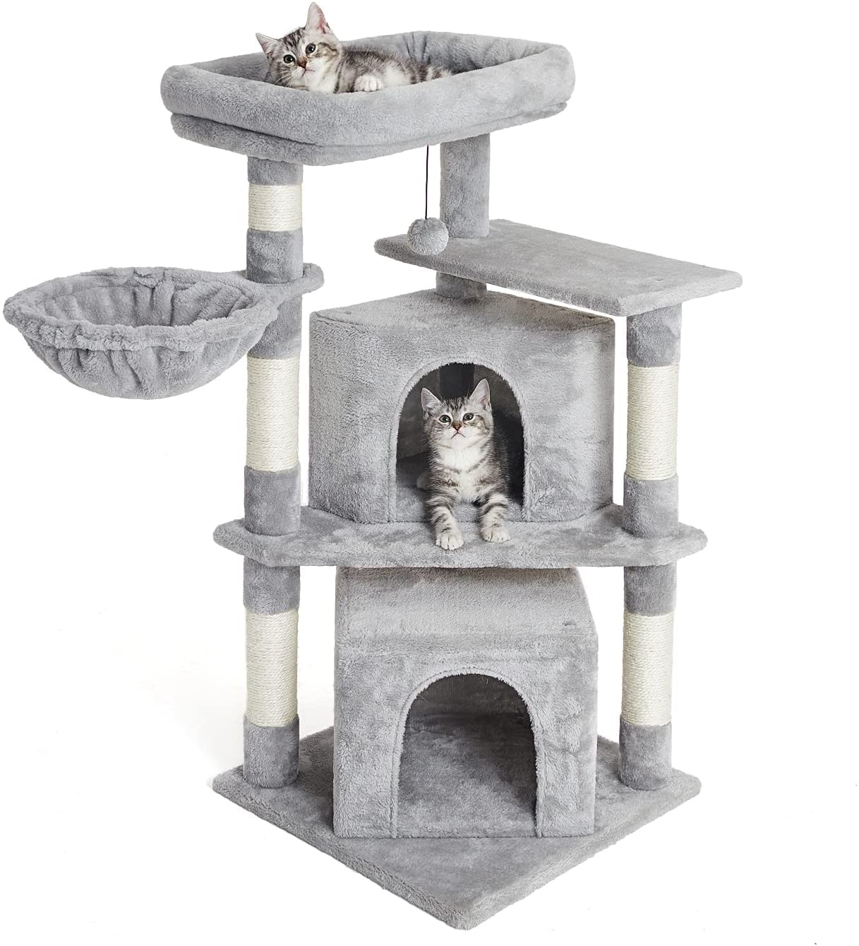 Kilodor Cat Tree with Sisal Scratching Post, Luxury Condo, Hummock,Cat Tower Climber Furniture,Kitten Playhouse