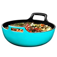 Deals on Enameled Cast Iron Balti Dish With Wide Loop Handles, 3 Qt