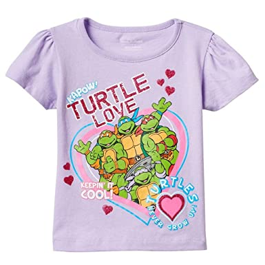 adf8d940 Nickelodeon Toddler Girls' Teenage Mutant Ninja Turtles T-Shirts, Lavender,  ...