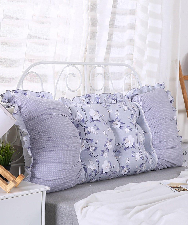 ZEMIN Almohadillas de Cama de algodón Almohada de sofá de Cama Desmontable Backres Almohada Lumbar de Gran tamaño de algodón PP (Color : D, Tamaño : 145 * 50cm)