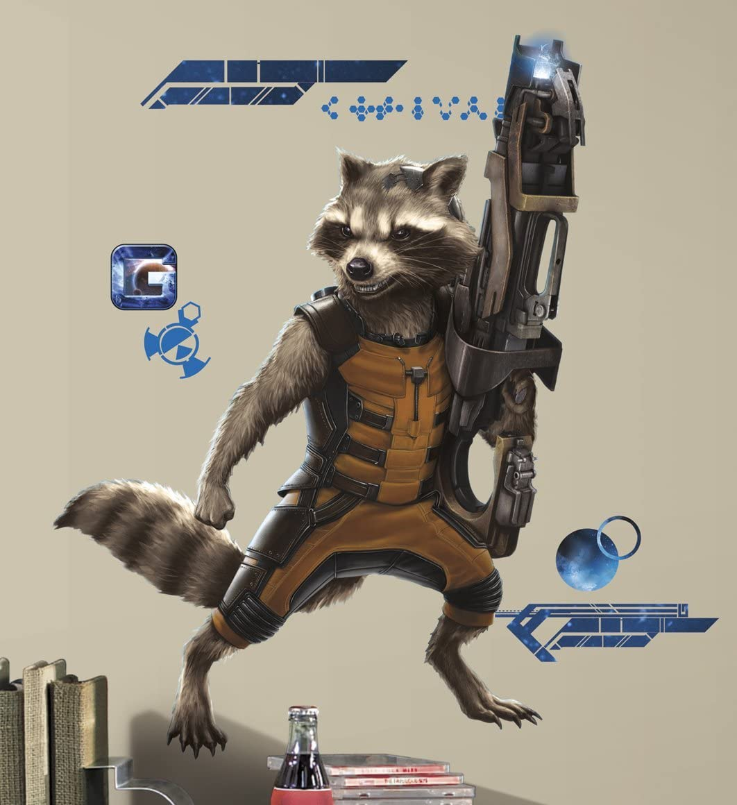 RoomMates Guardians of the Galaxy Raccoon Giant Wall Decals
