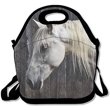 Fotos de caballo blanco grande y grueso, bolsas de almuerzo ...
