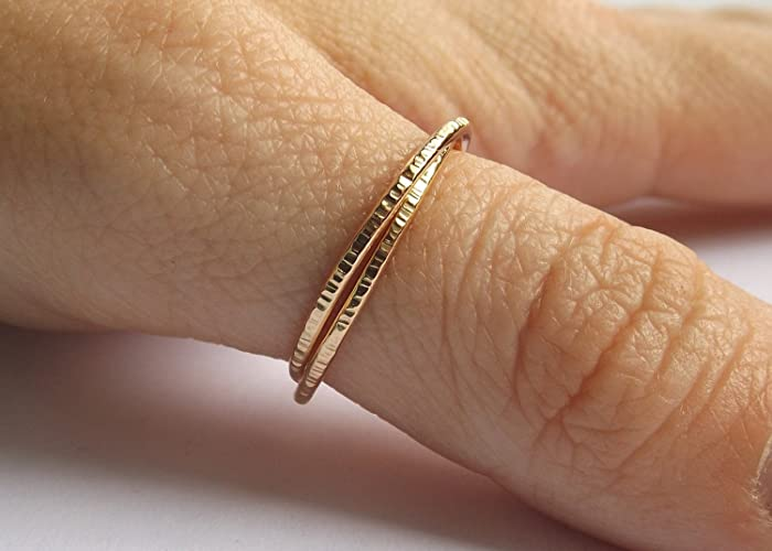 d695c40cda Image Unavailable. Image not available for. Color: Gold Interlocking Thumb  Rings ...