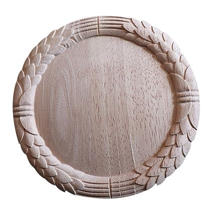 Amazon enerhu piece wood carved applique onlay round