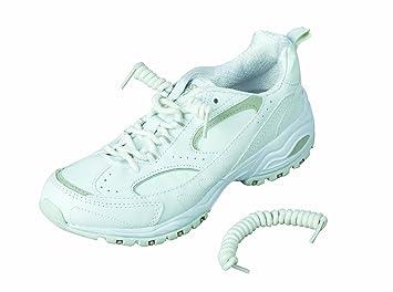 41e58a1427b29 Healthsmart 640-9004-0001 - Coiler Shoe Laces, No Tie Shoelaces, White