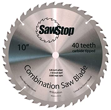 Sawstop cns 07 148 40 tooth combination table saw blade 10 inch sawstop cns 07 148 40 tooth combination table saw blade 10 greentooth Image collections