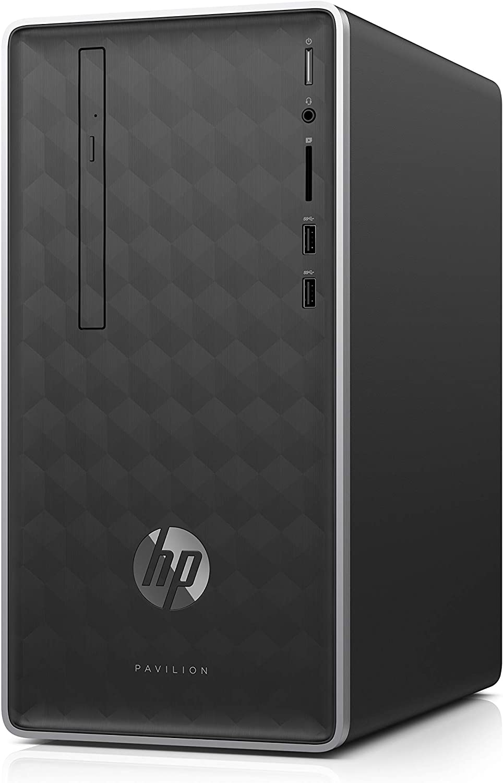 HP 590-p0033w Pavilion Desktop i3-8100 3.6GHz 4GB RAM 1TB HDD Win 10 Home Ash Silver